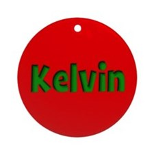 Kelvin Red and Green Ornament (Round)