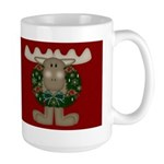 Christmas Moose Large Mug
