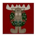 Christmas Moose Tile Coaster