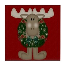 Christmas Moose Tile Coaster