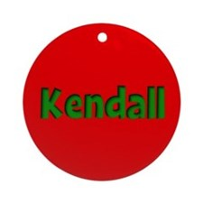 Kendall Red and Green Ornament (Round)