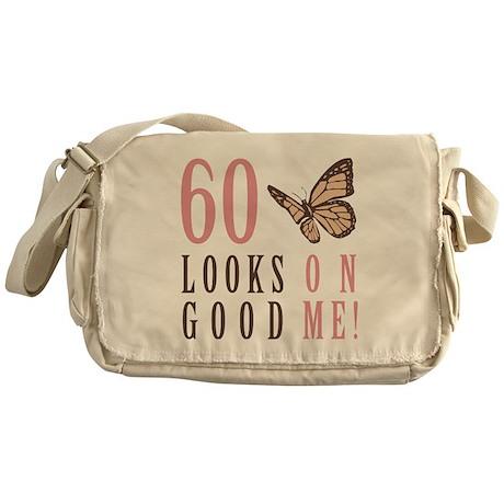 60th Birthday Butterfly Messenger Bag