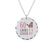 60th Birthday Butterfly Necklace