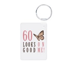 60th Birthday Butterfly Keychains