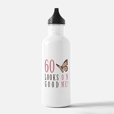 60th Birthday Butterfly Water Bottle