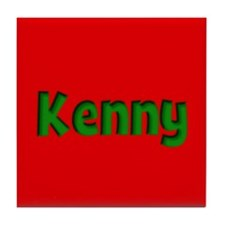 Kenny Red and Green Tile Coaster