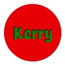 Kerry Red and Green Round Car Magnet