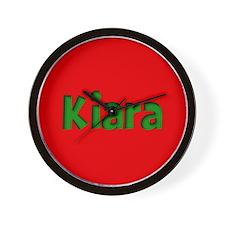Kiara Red and Green Wall Clock