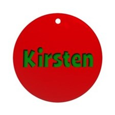 Kirsten Red and Green Ornament (Round)