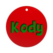 Kody Red and Green Ornament (Round)