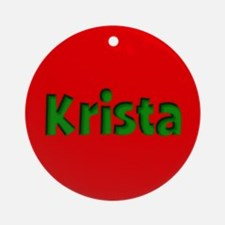 Krista Red and Green Ornament (Round)