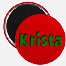 Krista Red and Green Magnet