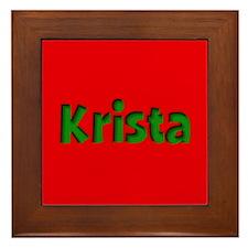Krista Red and Green Framed Tile