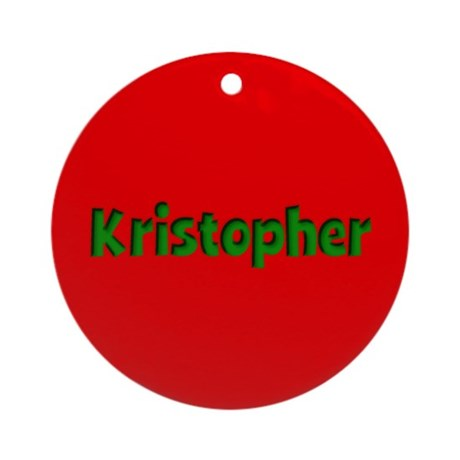 Kristopher Red and Green Ornament (Round)