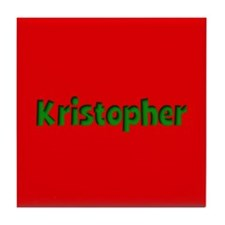 Kristopher Red and Green Tile Coaster