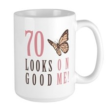70th Birthday Butterfly Mug
