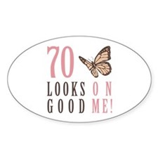 70th Birthday Butterfly Decal