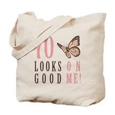 70th Birthday Butterfly Tote Bag