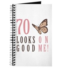 70th Birthday Butterfly Journal