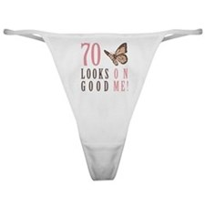 70th Birthday Butterfly Classic Thong