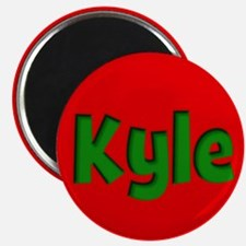 Kyle Red and Green Magnet