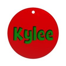 Kylee Red and Green Ornament (Round)