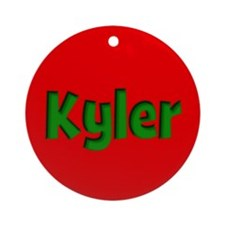 Kyler Red and Green Ornament (Round)