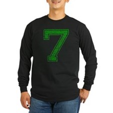 7, Green, Vintage T
