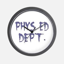 """Phys Ed Faded"" Wall Clock"