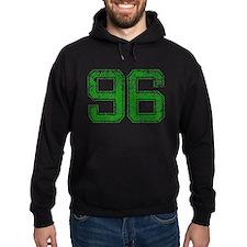 96, Green, Vintage Hoodie