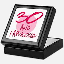 30 And Fabulous Keepsake Box