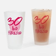 30 And Fabulous Drinking Glass