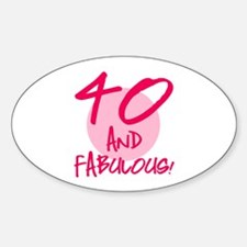 40 And Fabulous Decal