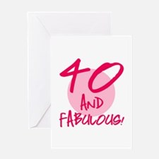40 And Fabulous Greeting Card