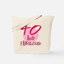 40 And Fabulous Tote Bag