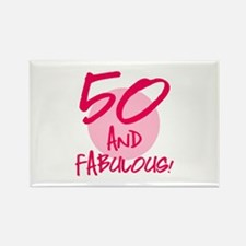 50 And Fabulous Rectangle Magnet