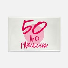 50 And Fabulous Rectangle Magnet (100 pack)