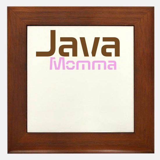 Java Momma Framed Tile