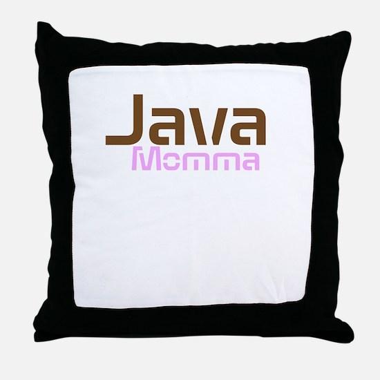 Java Momma Throw Pillow