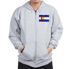 New Colorado State Marijuana Flag Zipped Hoody