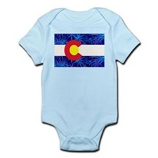 New Colorado State Marijuana Flag Infant Bodysuit