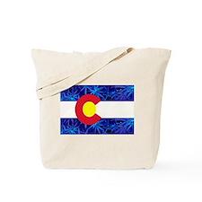 New Colorado State Marijuana Flag Tote Bag