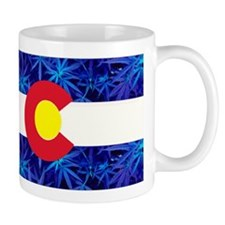 New Colorado State Marijuana Flag Mug