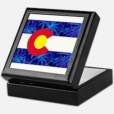 New Colorado State Marijuana Flag Keepsake Box