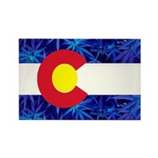 New Colorado State Marijuana Flag Rectangle Magnet