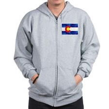 New Colorado State Marijuana Flag Zip Hoodie
