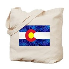 Colorado Marijuana Flag Tote Bag