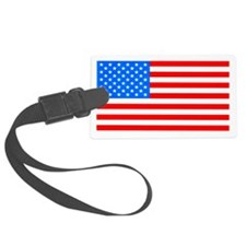 American Flag Light Blue 4th of July Pie Luggage Tag