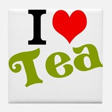 I Love Tea Tile Coaster