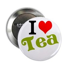"I Love Tea 2.25"" Button"